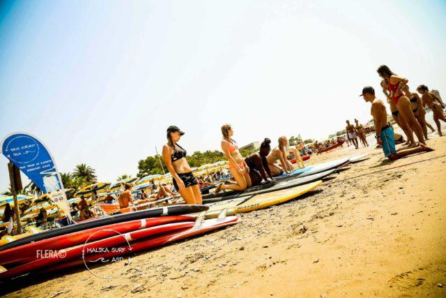 Malika surf school santa severa castello roma lezione sup